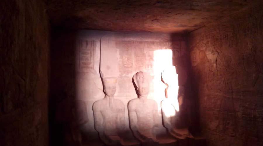 Abu Simbel Sun Perpendicularity