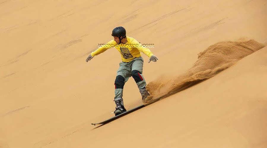 Katameya Dunes Sand Surfing