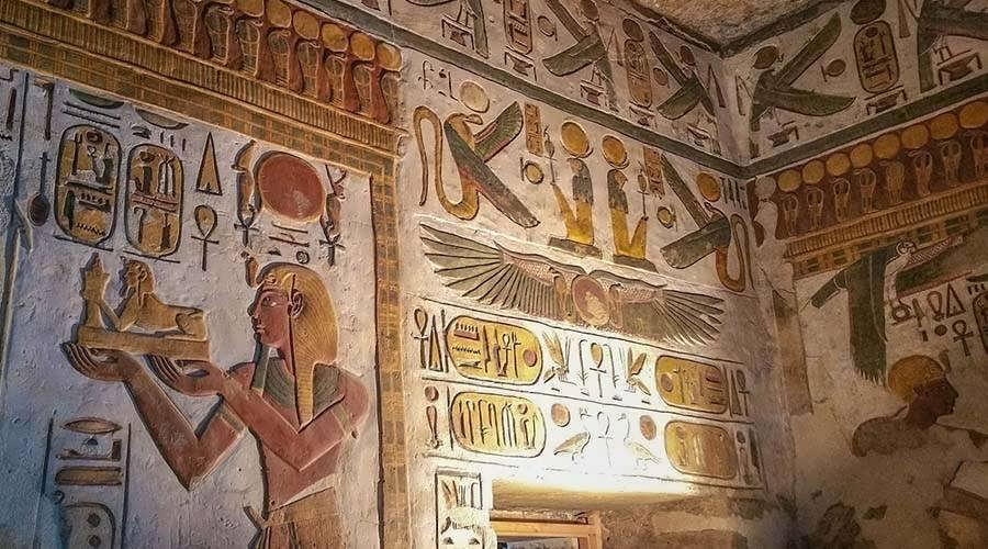 Khonsu tomb Luxor Egypt