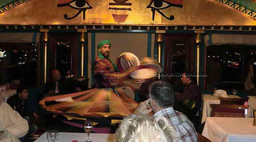 Cruise dinner in Cairo Egypt