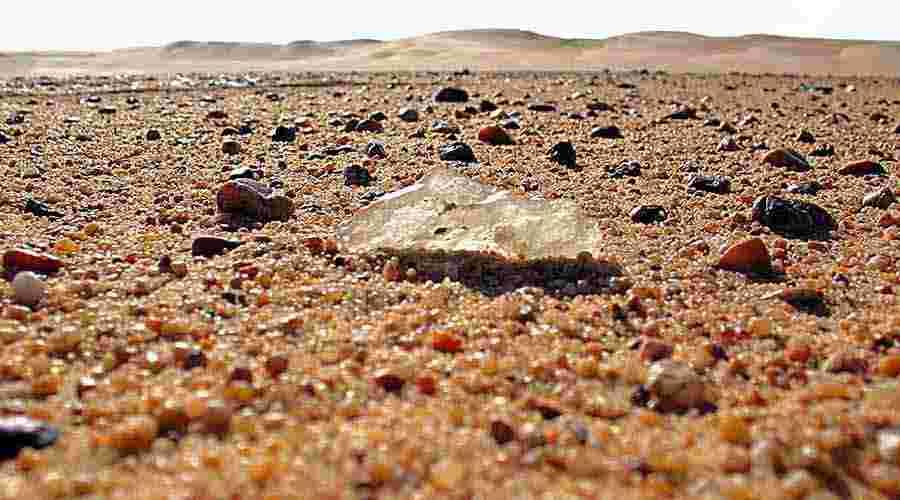 Silica Glass Field Egypt